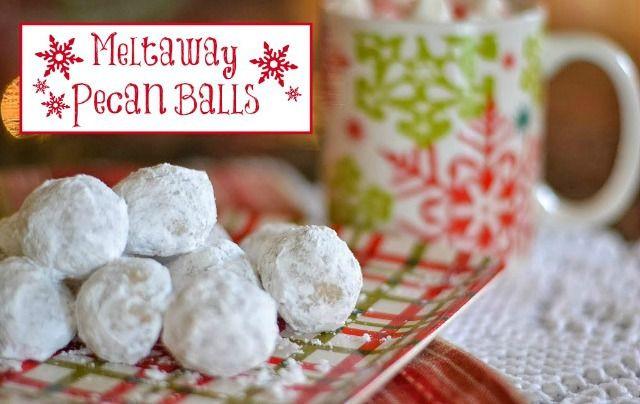 Pecan Balls Christmas Cookies  Meltaway Pecan Balls Recipe