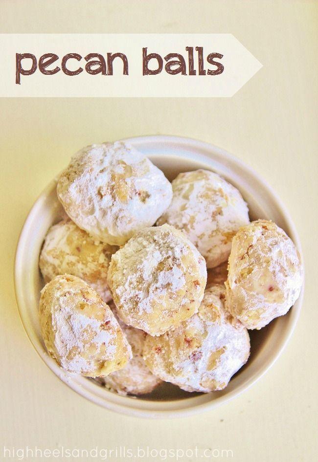 Pecan Balls Christmas Cookies  Pecan Balls recipe Christmas Treats