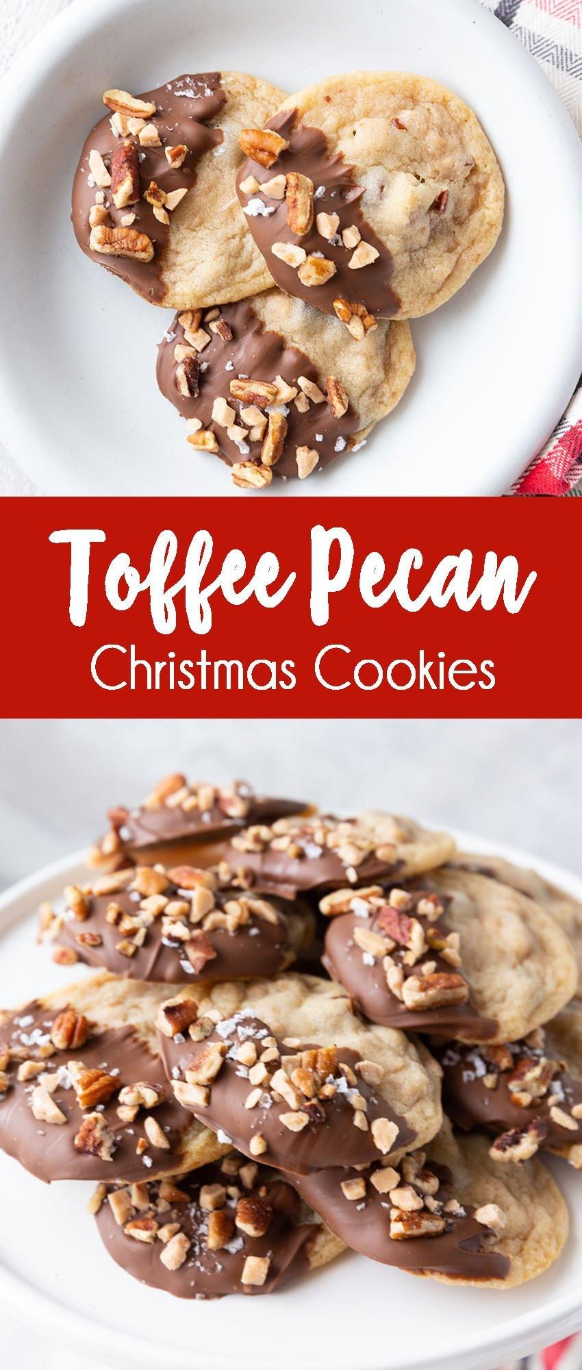 Pecan Christmas Cookies  Toffee Pecan Christmas Cookies Easy Peasy Meals