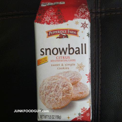 Pepperidge Farm Christmas Cookies  Review Pepperidge Farm Limited Edition Snowball Citrus