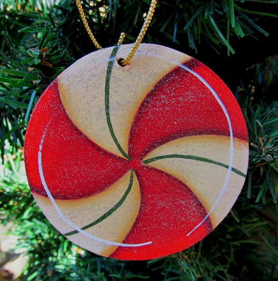 Peppermint Candy Christmas Ornaments  Items similar to Peppermint Candy Christmas Ornament Hand