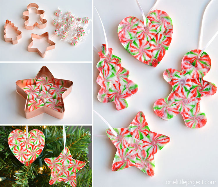 Peppermint Candy Christmas Ornaments  Melted Peppermint Candy Ornaments