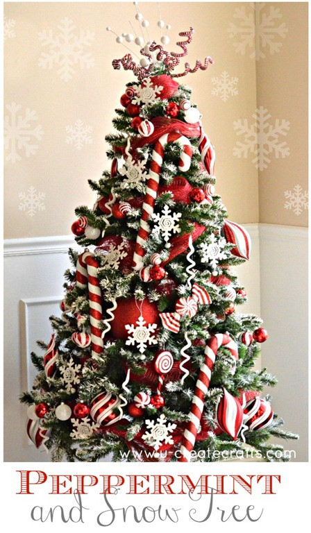 Peppermint Candy Christmas Tree  Peppermint Christmas Tree