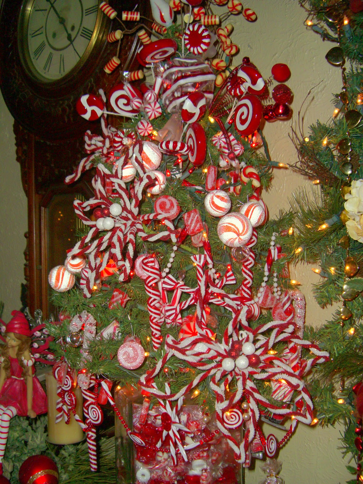 Peppermint Candy Christmas Tree  House full of Christmas trees
