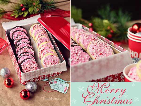 Peppermint Christmas Cookies  Easy Peppermint Buttercream Cake Mix Cookies