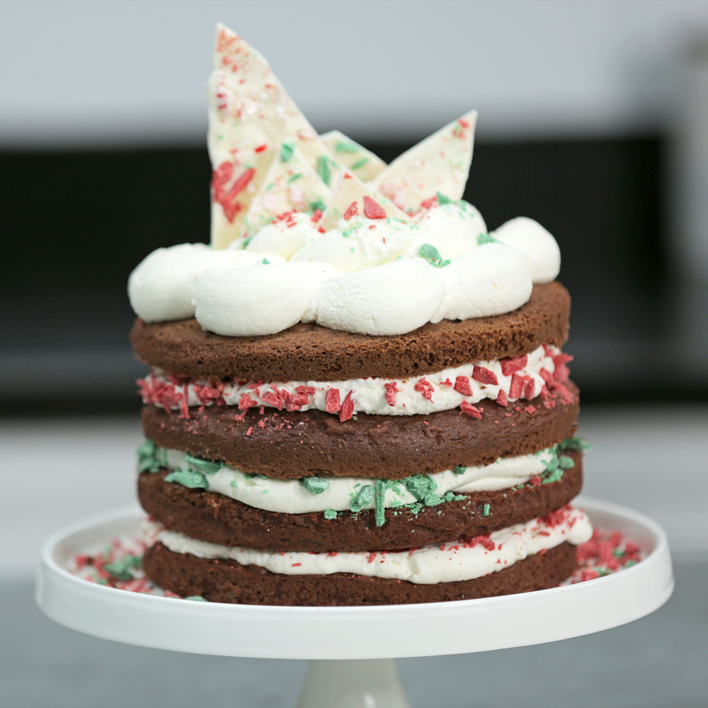 Picture Of Christmas Cakes  Easy Chocolate Christmas Cake from a Box Recipe