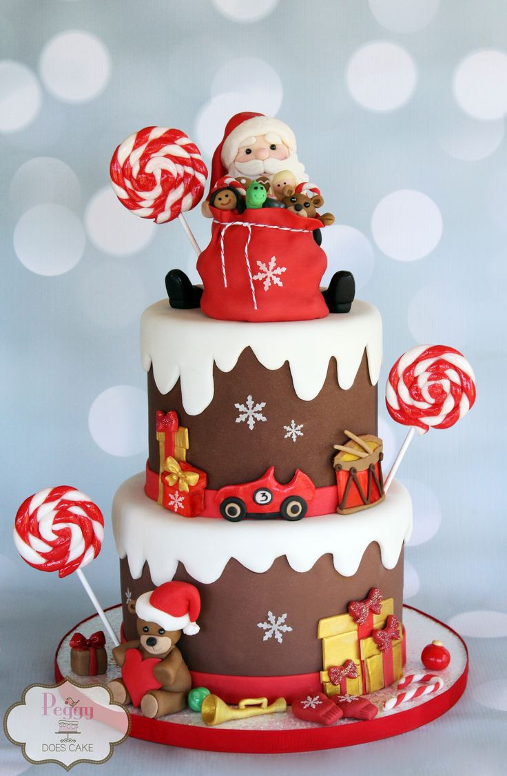 Picture Of Christmas Cakes  1000 ideas about Santa Cake on Pinterest