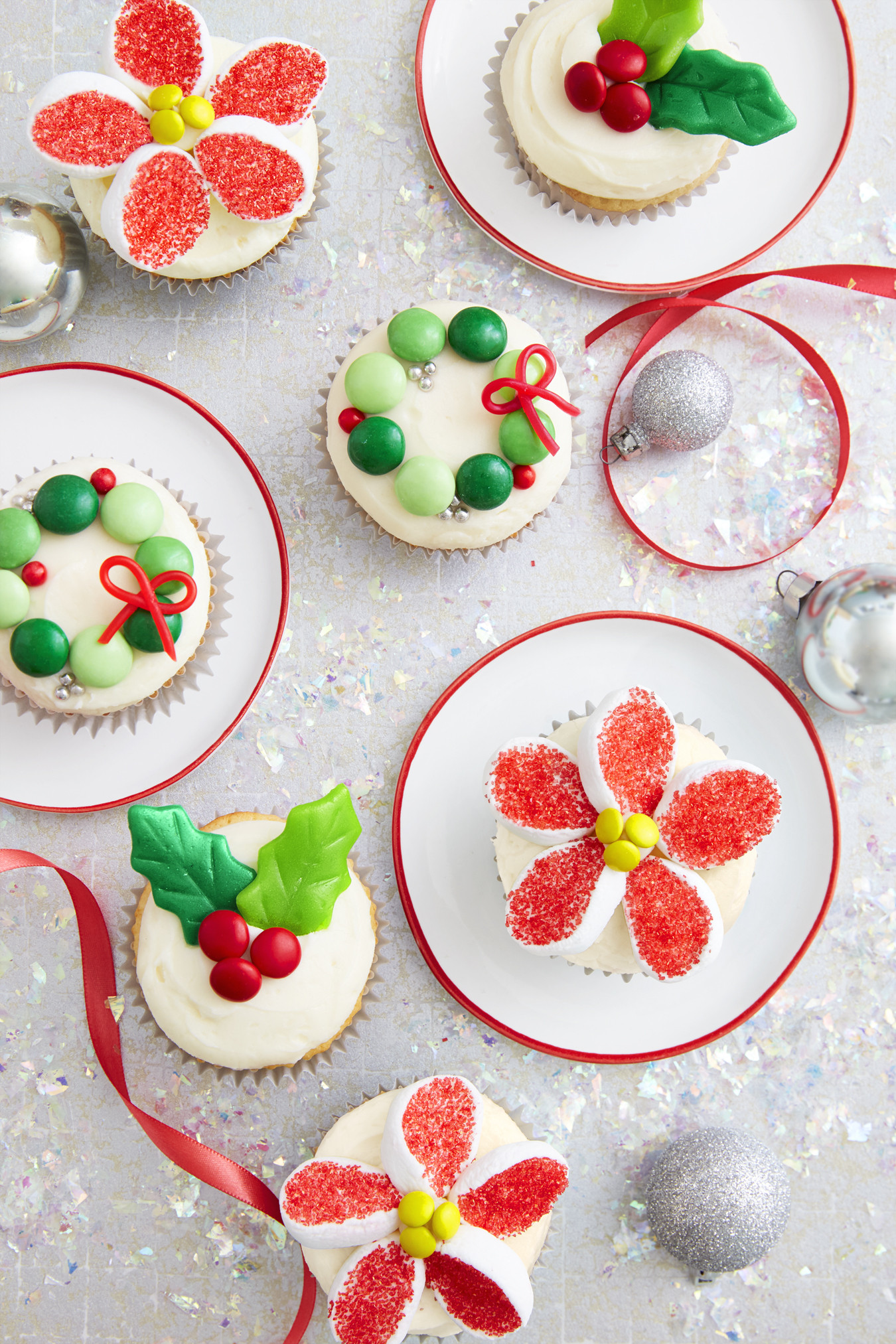 Pictures Of Christmas Desserts  Holiday Candy Cupcakes Recipe How To Make Christmas