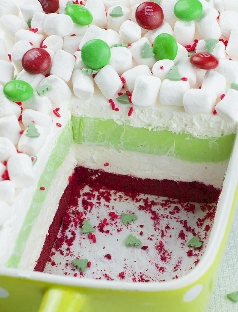 Pictures Of Christmas Desserts  Christmas Lasagna OMG Chocolate Desserts