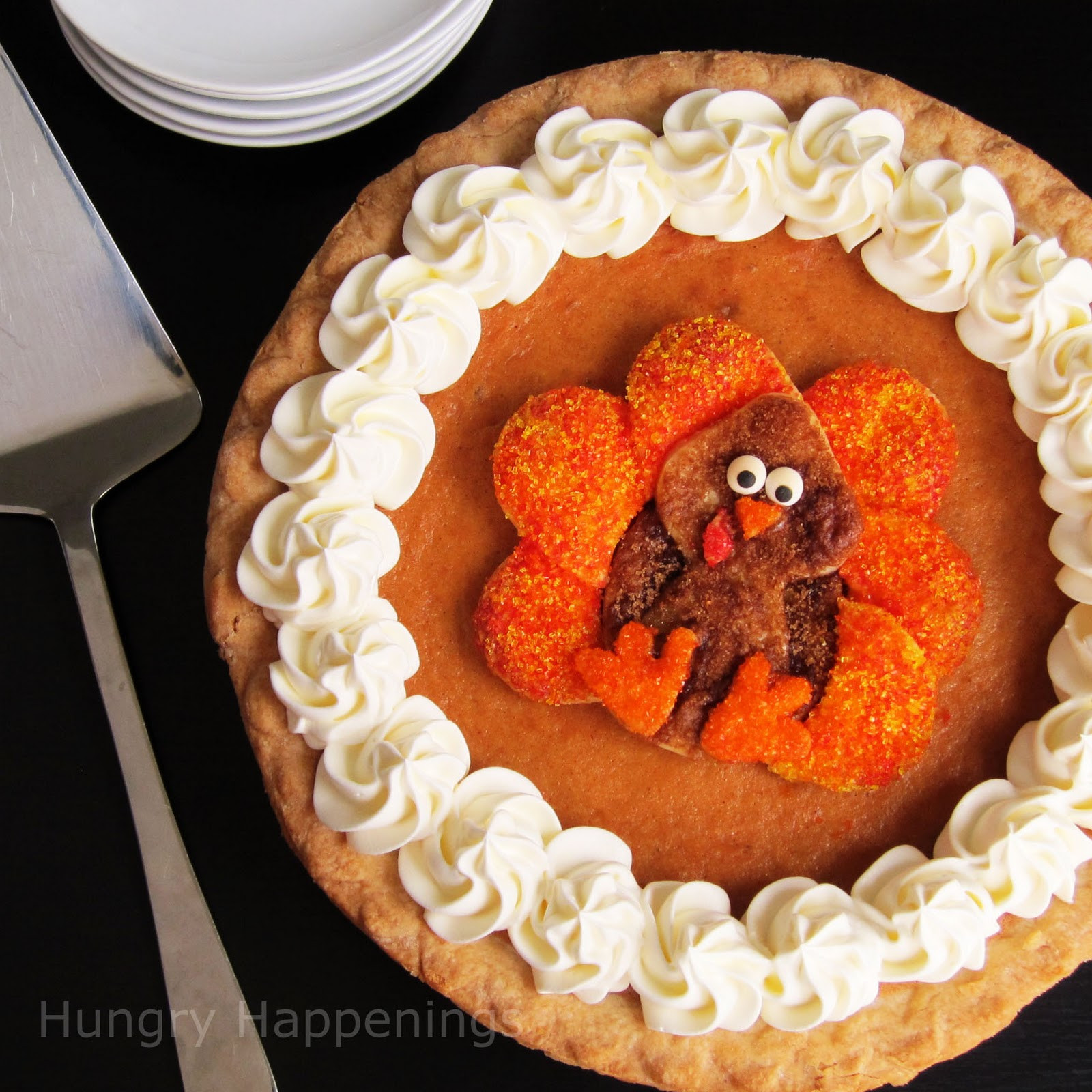 Pies To Make For Thanksgiving  Decorated Pumpkin Pie Festive Thanksgiving Dessert