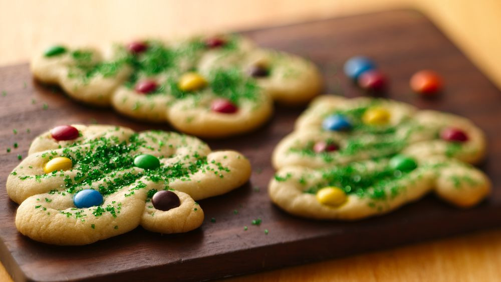 Pillsbury Christmas Tree Cookies  Swirly Christmas Tree Cookies recipe from Pillsbury