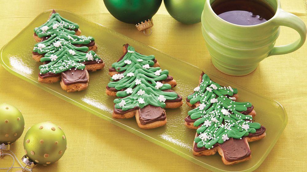 Pillsbury Christmas Tree Cookies  Peanut Butter Christmas Tree Cookies recipe from Pillsbury