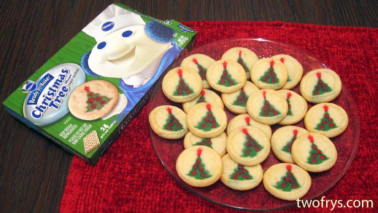 Pillsbury Christmas Tree Cookies  Two Frys Pillsbury Christmas Tree Shape Sugar Cookies