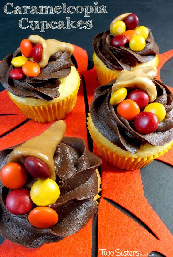 Pinterest Thanksgiving Desserts  Thanksgiving Caramelcopia Cupcakes