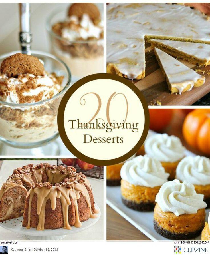 Pinterest Thanksgiving Desserts  Thanksgiving desserts Ideas Thanksgiving