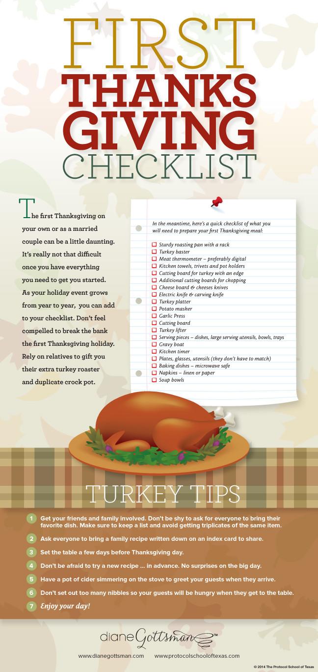 Planning Thanksgiving Dinner Checklist  A Thanksgiving Dinner Checklist Diane Gottsman National