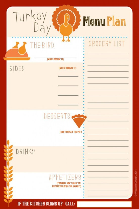 Planning Thanksgiving Dinner Checklist  25 Free Thanksgiving Printables Tip Junkie