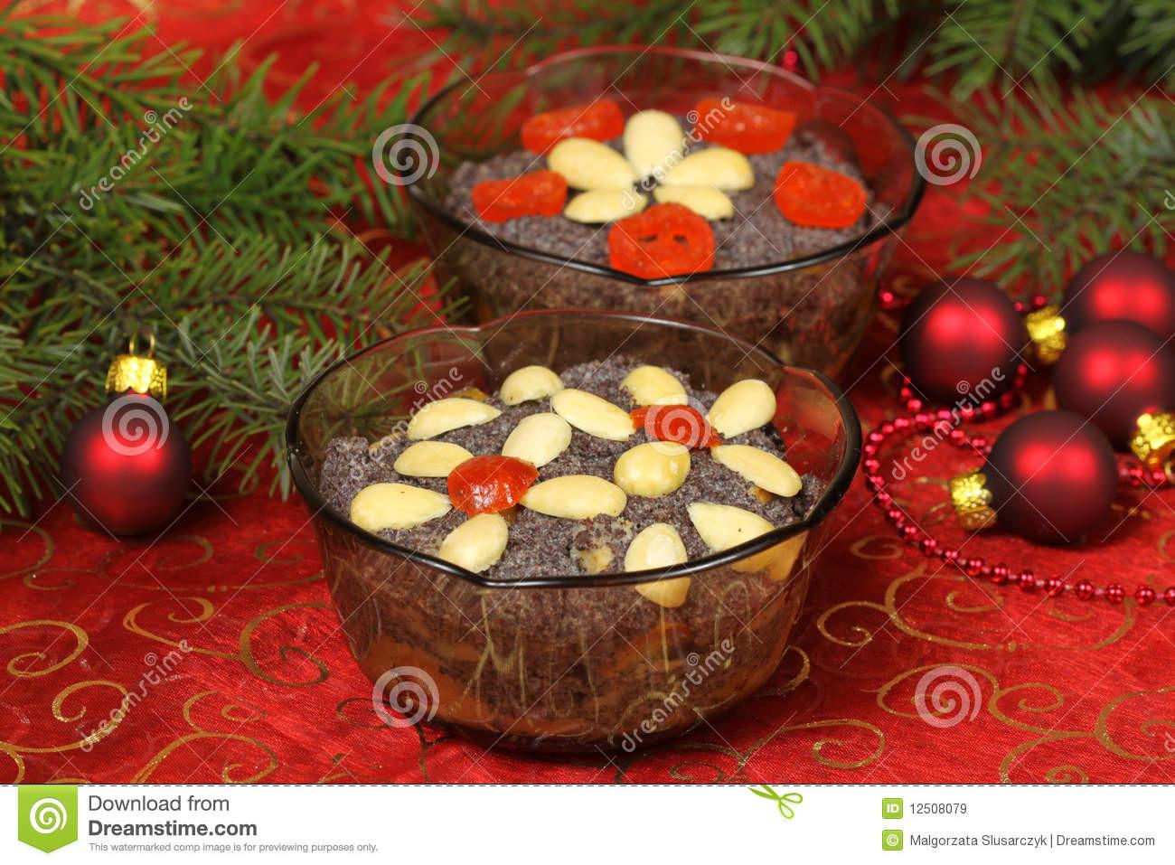 Polish Christmas Desserts  Polish Christmas Desserts Makowki Stock Image Image of