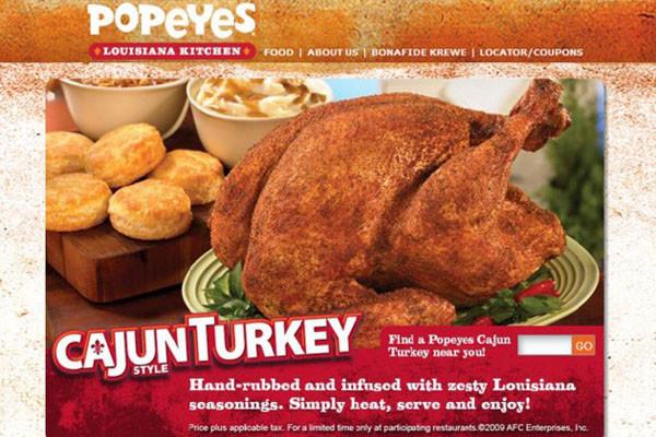 Popeyes Thanksgiving Turkey 2019  Top 11 Thanksgiving Restaurant Dinner Deals