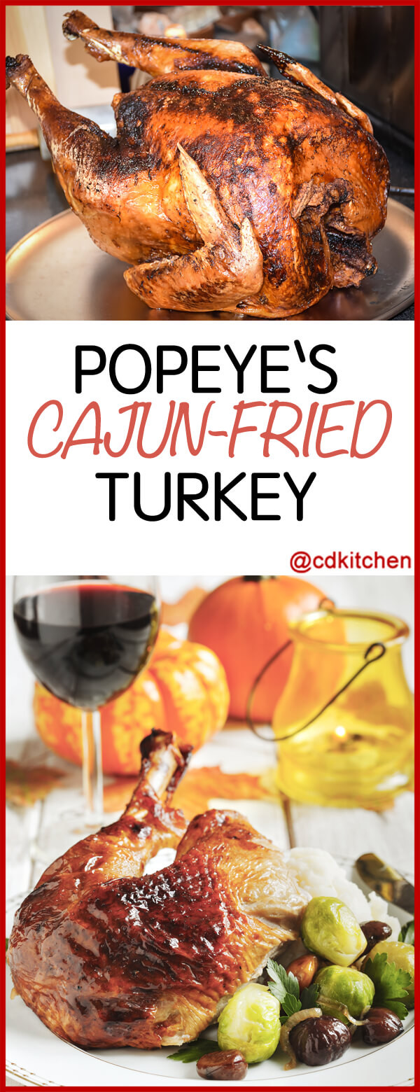 Popeyes Thanksgiving Turkey 2019  Copycat Popeye s Cajun Fried Turkey Recipe