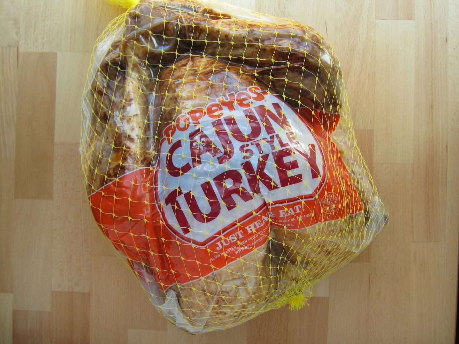 Popeyes Turkey Thanksgiving  Review Popeyes Cajun Turkey