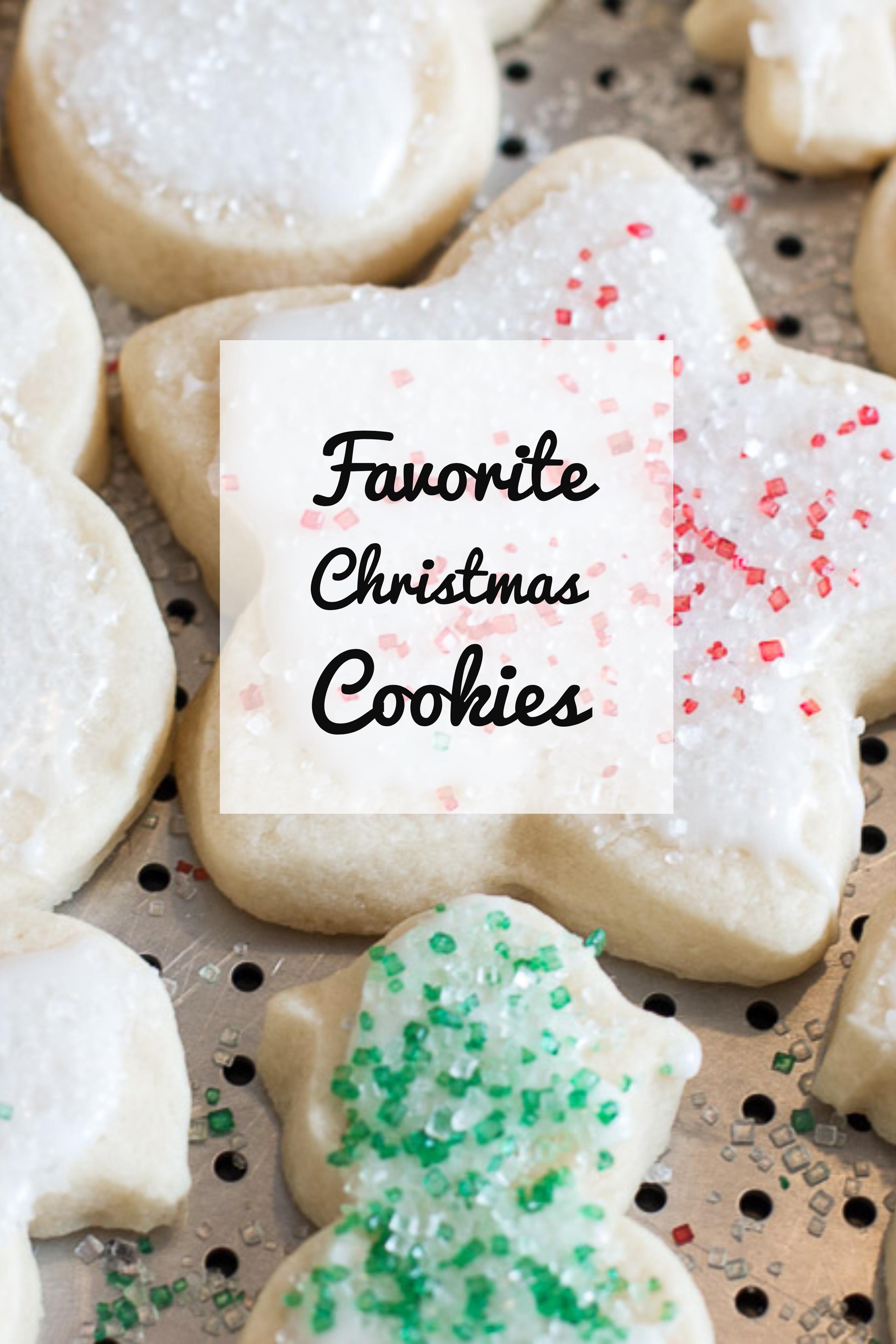Popular Christmas Cookies  favorite christmas cookies christmas treats