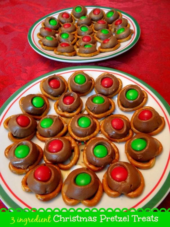Pretzel Christmas Cookies  3 ingre nt Christmas Pretzel Treats Recipe Mommy