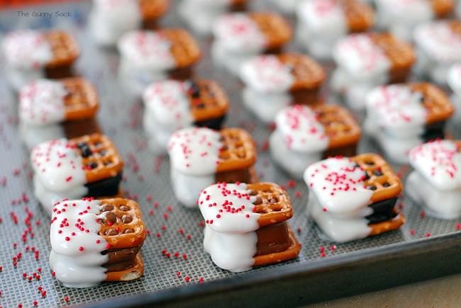 Pretzel Christmas Cookies  Candy Bar Pretzel Bites