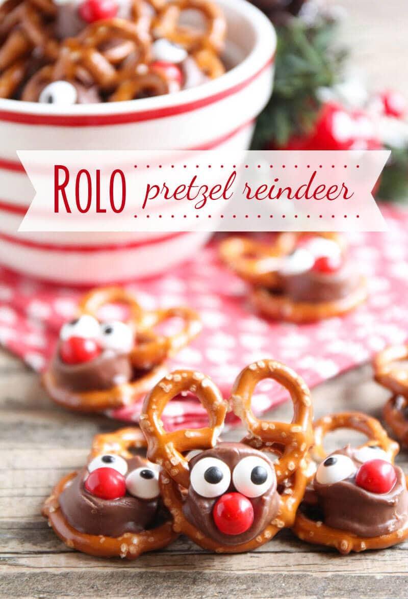 Pretzel Christmas Cookies  Rolo Pretzel Reindeer I Heart Nap Time