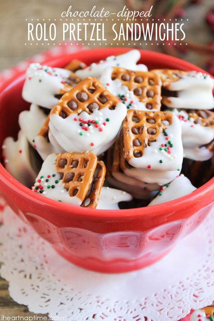 Pretzel Christmas Cookies  Best 25 Pretzel treats ideas on Pinterest