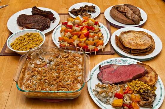 Prime Rib Christmas Dinner Menu Ideas  What I Ate December 25 2009 Christmas Dinner