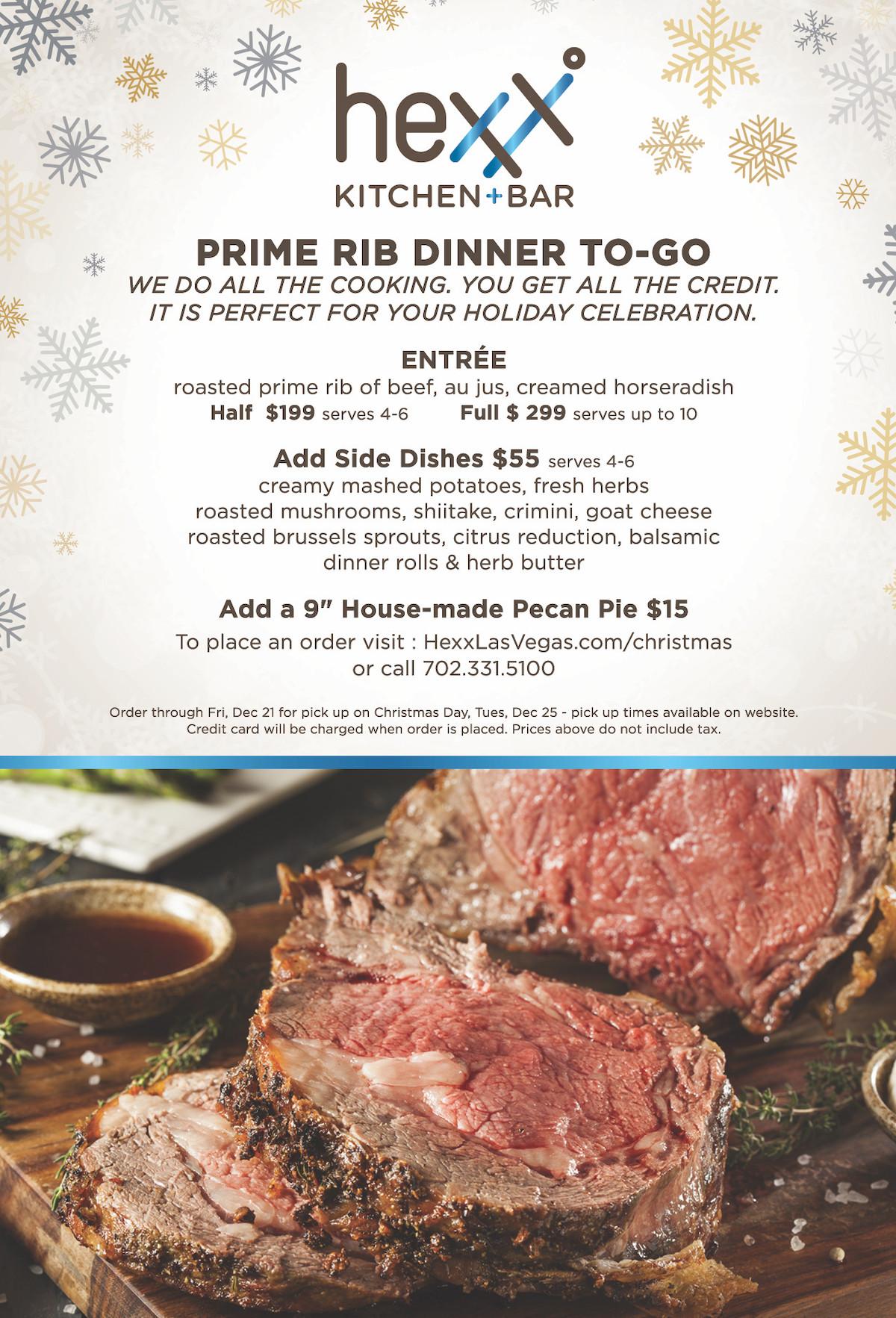 Prime Rib Christmas Dinner Menu  christmas dinner 2018 HEXX kitchen bar Paris Las