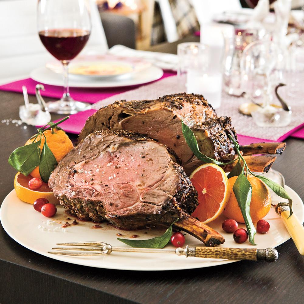 Prime Rib Christmas Dinner Menus  Fennel Crusted Rib Roast Recipe