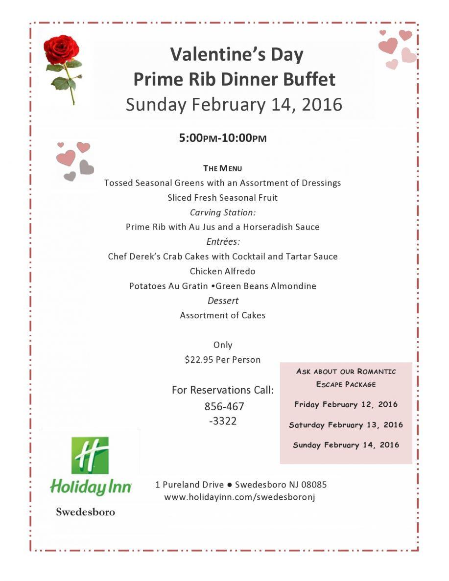 Prime Rib Christmas Dinner Menus  Valentine s Day Prime Rib Dinner Buffet Holiday Inn