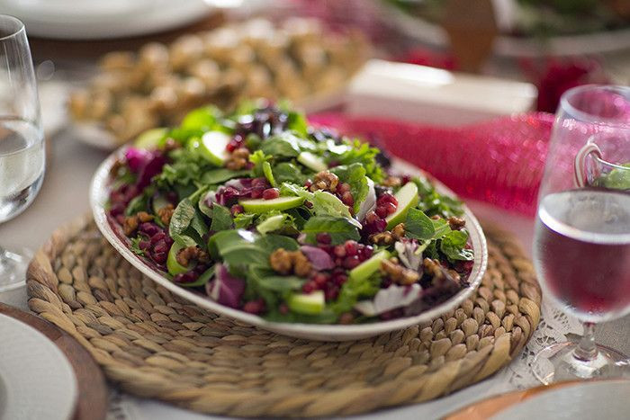 Publix Christmas Dinner  Pear & Pomegranate Salad Try this salad recipe from