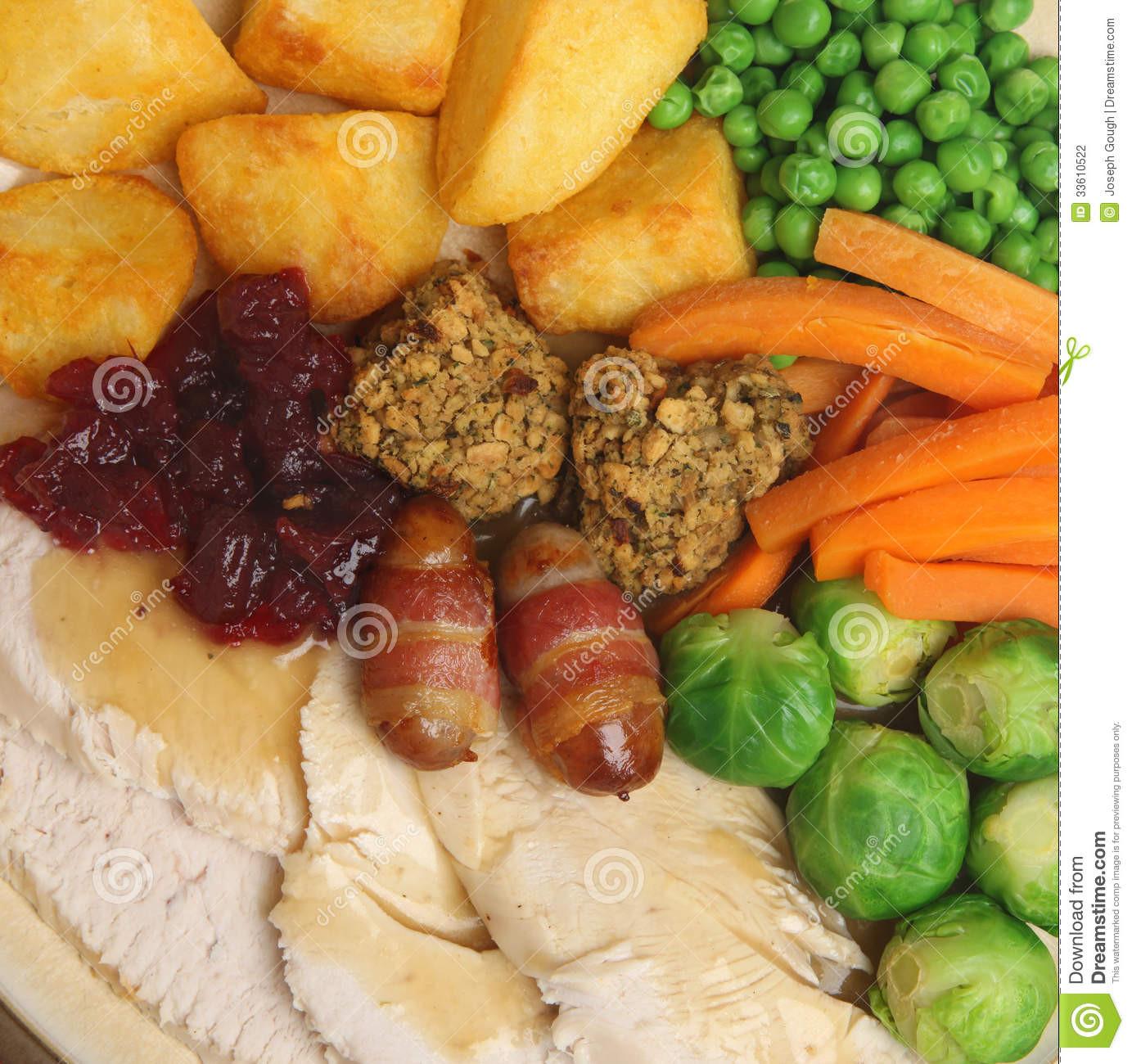 Publix Christmas Dinner  Christmas Roast Turkey Dinner Stock Image of