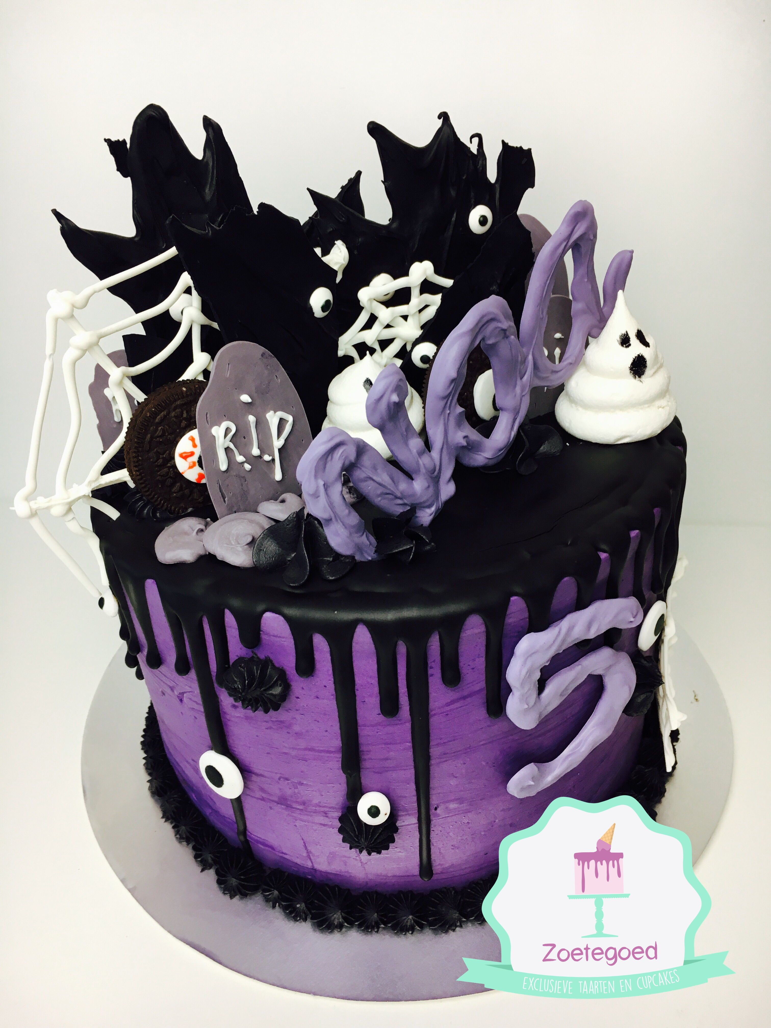 Publix Halloween Cakes  Halloween black and purple Drip cake