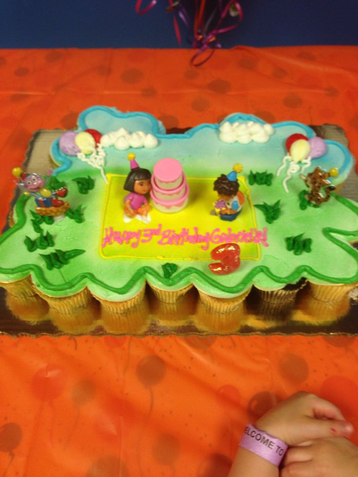 Publix Halloween Cakes  Dora Diego pull apart cake from publix