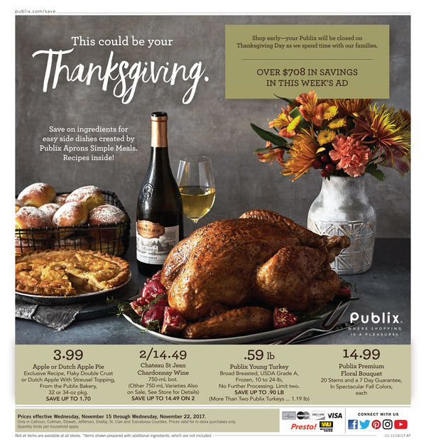 Publix Thanksgiving Dinners 2019  publix fresh seafood cook in bag dinners calories