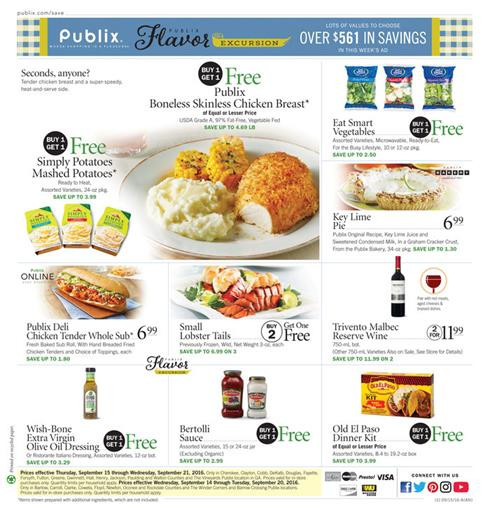 Publix Thanksgiving Dinners 2019  Weekly Ads