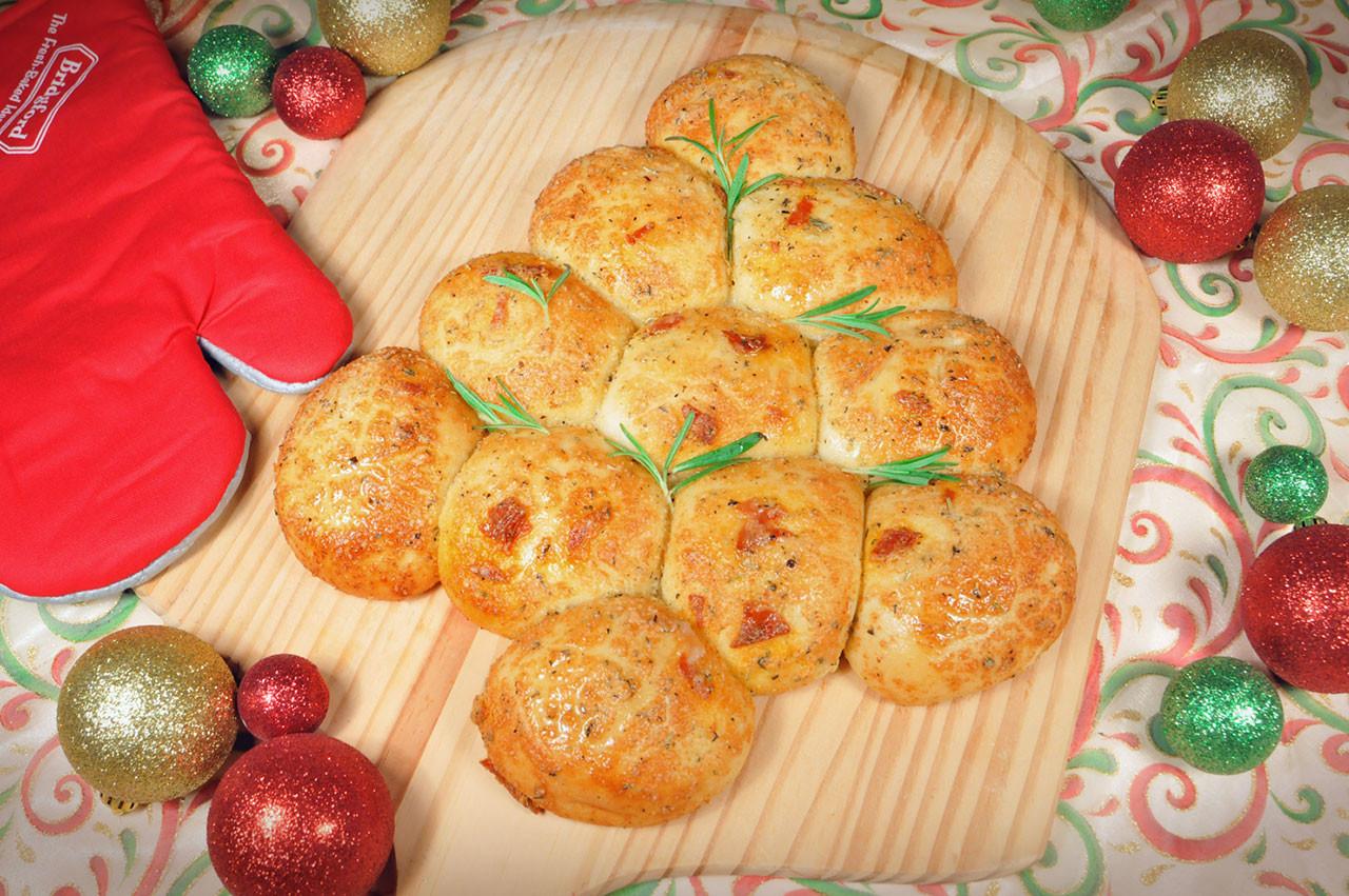 Pull Apart Christmas Tree Bread  Bread and Roll Dough Pepperoni Christmas Tree Pull Apart