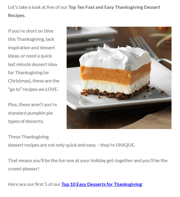 Quick And Easy Thanksgiving Recipes  Easy Thanksgiving Desserts To Try This Year Fun Recipes