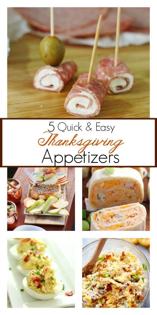 Quick And Easy Thanksgiving Recipes  The best Thanksgiving appetizer recipes that are quick and