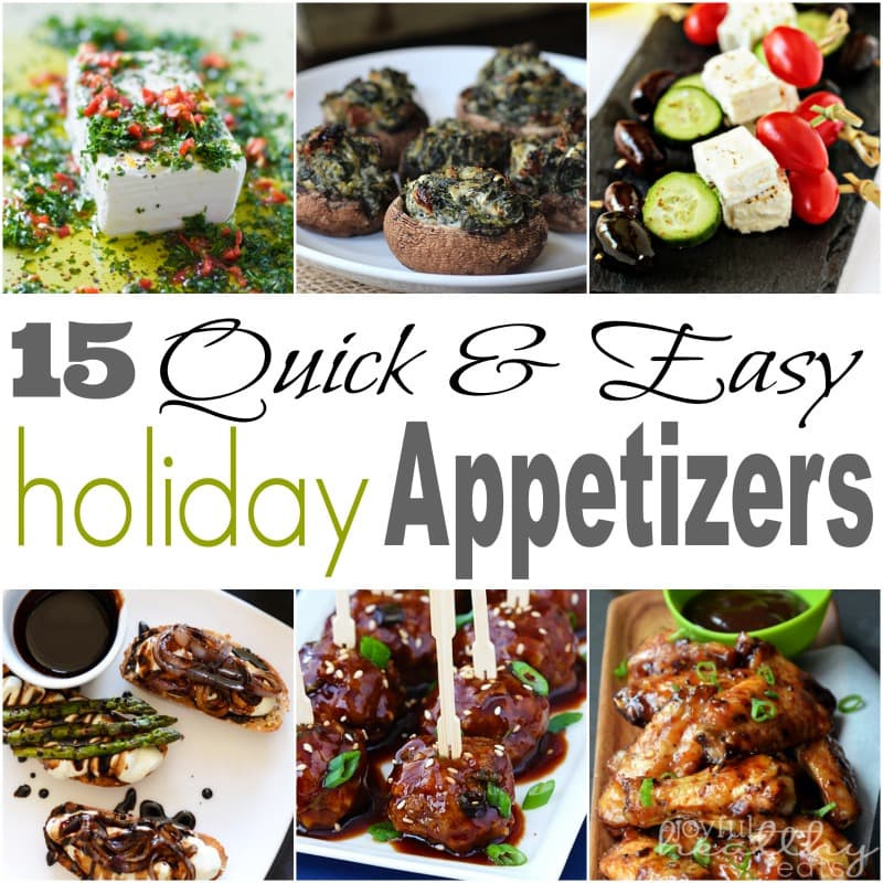 Quick Christmas Appetizers  15 Quick & Easy Holiday Appetizers