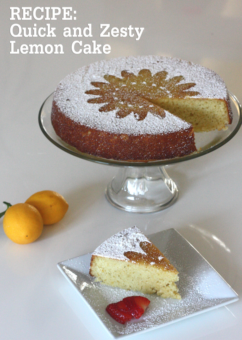 Quick Thanksgiving Desserts  RECIPE Quick and Zesty Lemon Cake Perfect for a Last
