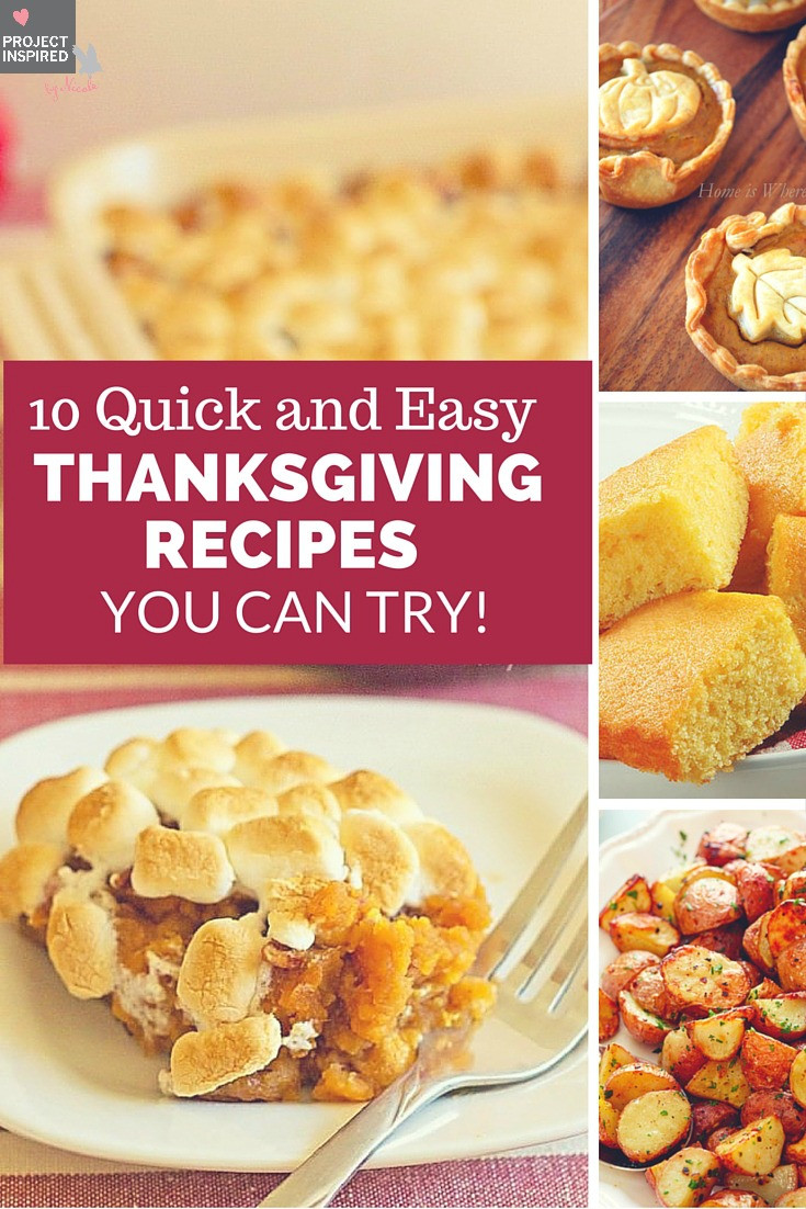 Quick Thanksgiving Desserts  10 Quick and Easy Thanksgiving Recipes You Can Try