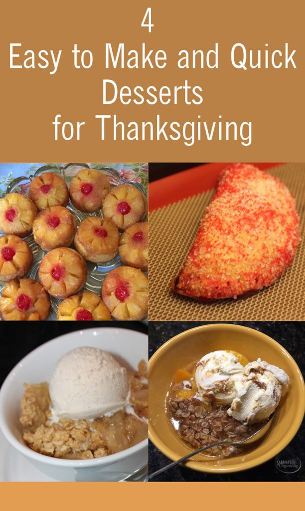 Quick Thanksgiving Desserts  4 Easy to Make and Quick Desserts for Thanksgiving