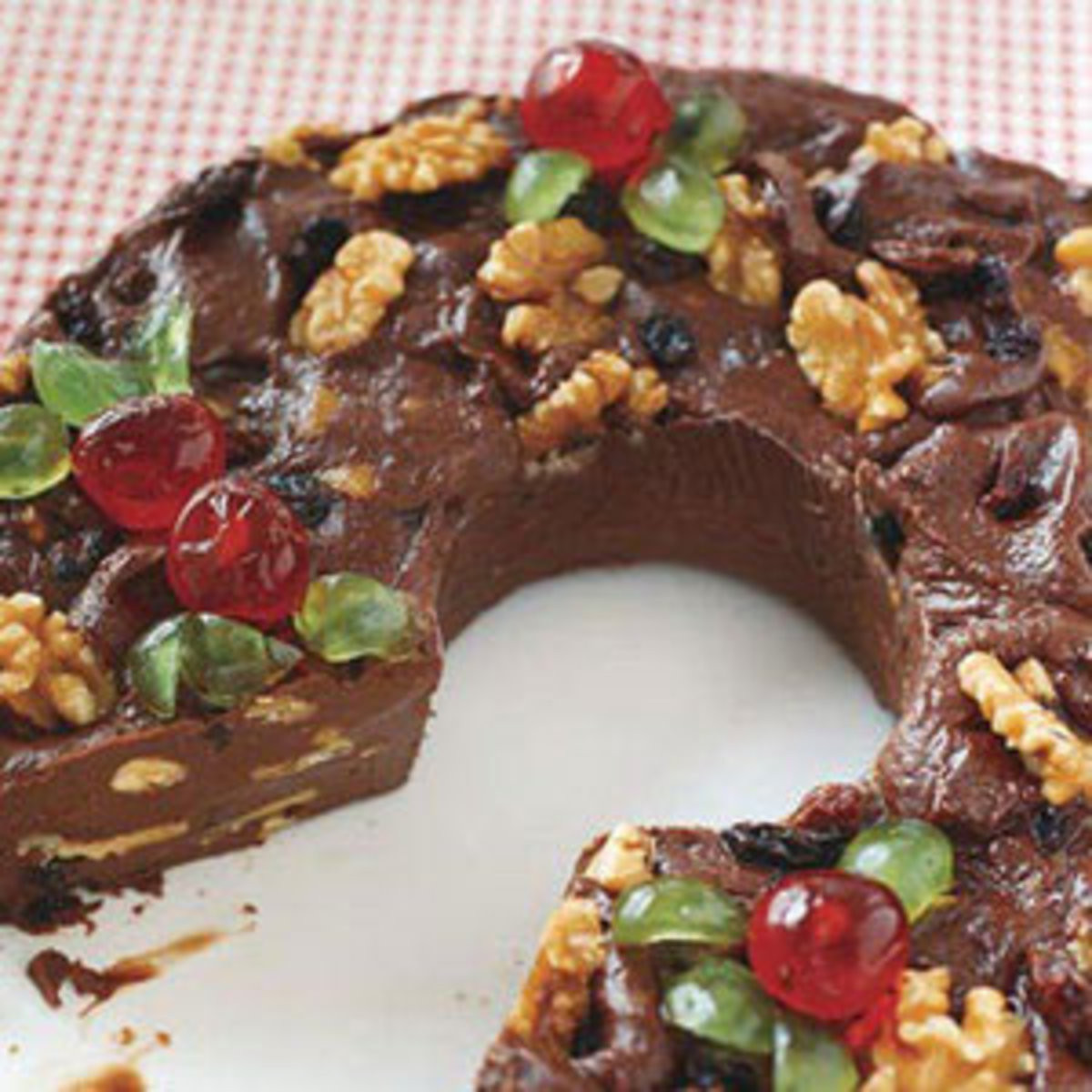 Rachael Ray Christmas Fudge Wreath  Christmas Dessert Recipes Rachael Ray Every Day
