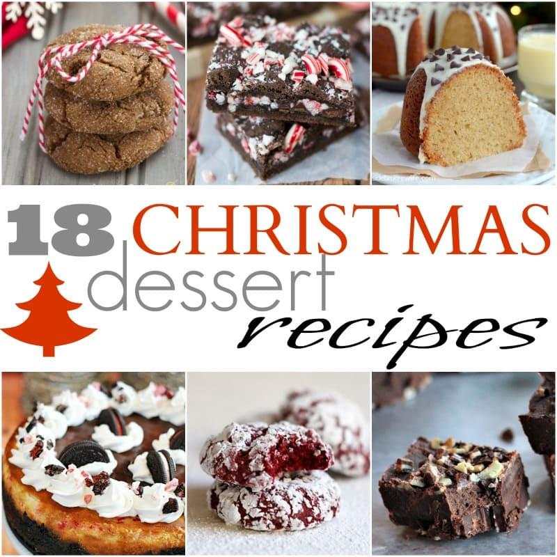 Recipe For Christmas Desserts  18 Easy Christmas Dessert Recipes