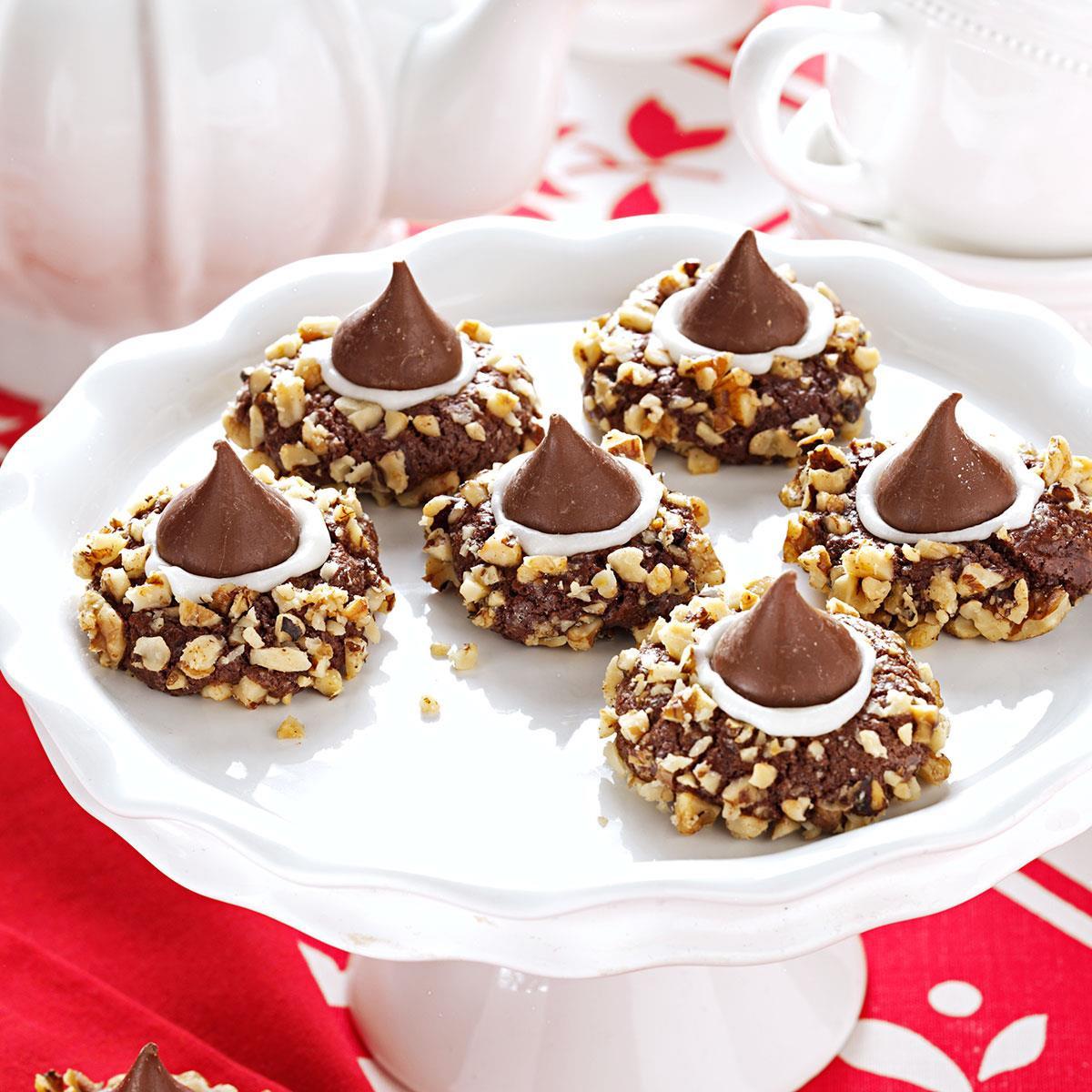 Recipes Christmas Cookies  Chocolate Thumbprints Cookies Recipe